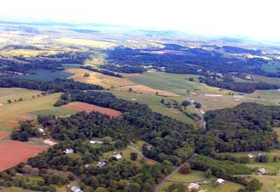 Arial Drone Photo of Harford County Farm